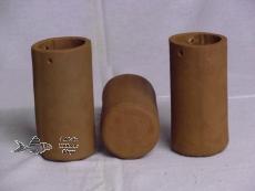 Casting pot 6 x 12 cm brown