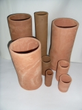 Casting pot, big brown desired size