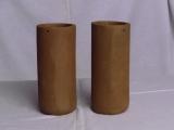 Casting pot 9 x 21 cm brown